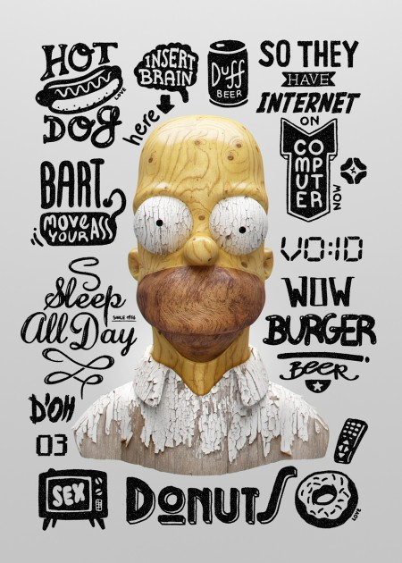 homers thoughts typography 2
