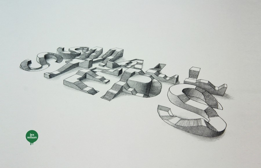 3d typography illustration 1