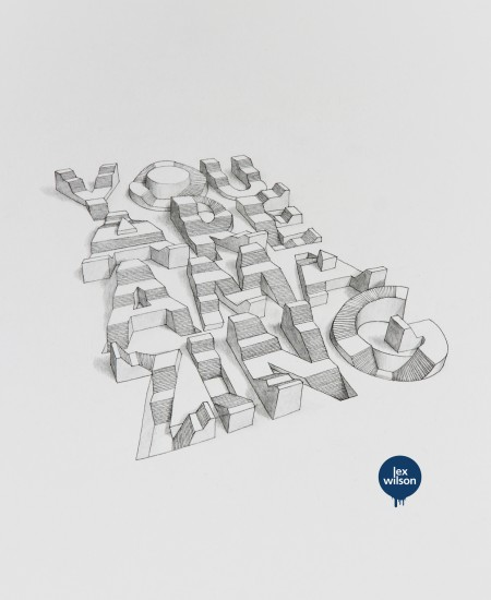 3d typography illustration 2