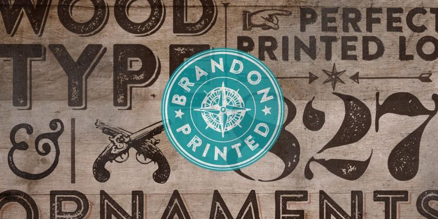 brandon printed font 1