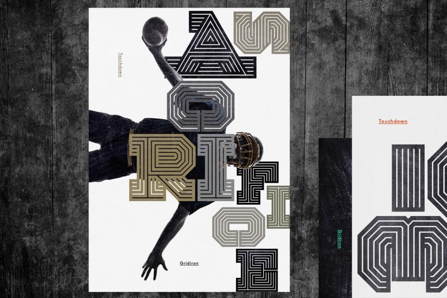 gridiron typography 1
