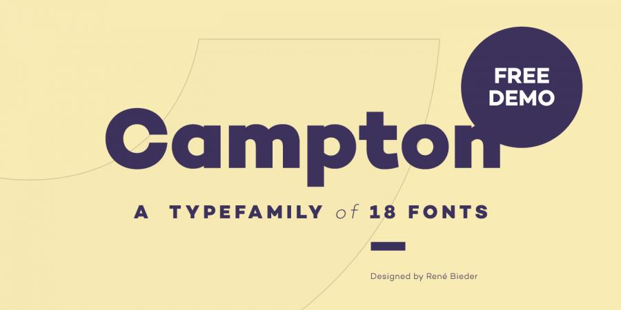 campton font 1