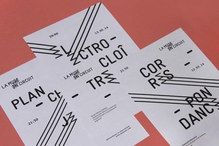 la muse en circuit typographic identity 2