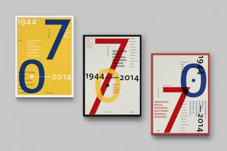 70th anniversary cccw typographic poster 2