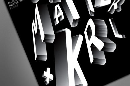 grey matter and krl typographic poster 3