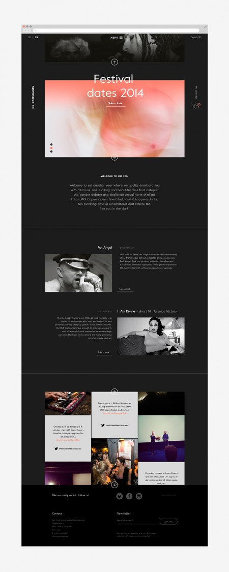 mix copenhagen film festival brand identity 2